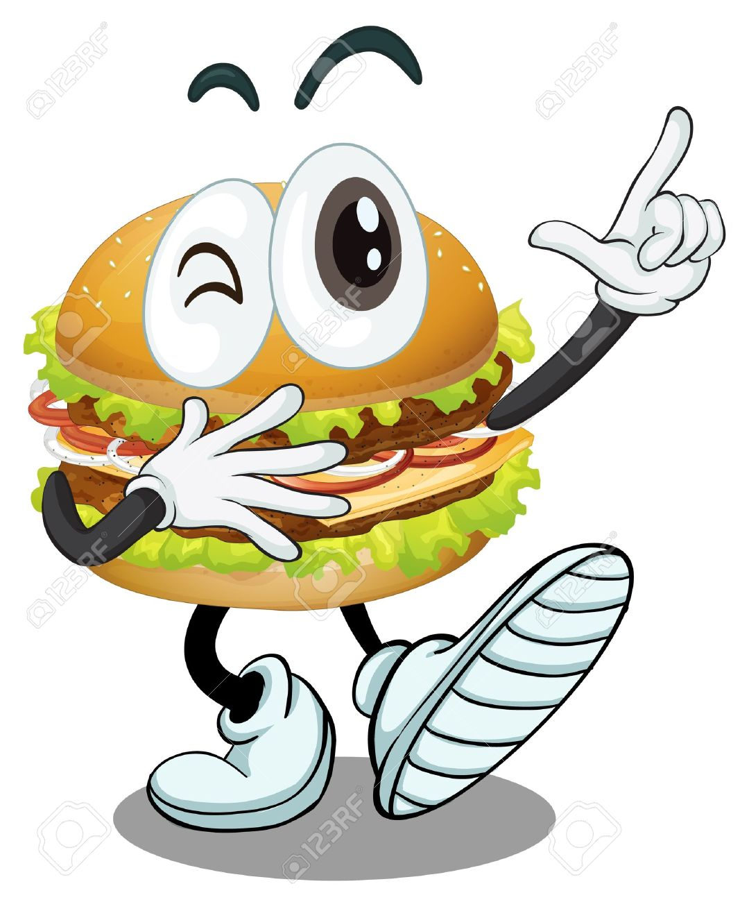 illustration of a burger on a white background Stock Vector - 16188253