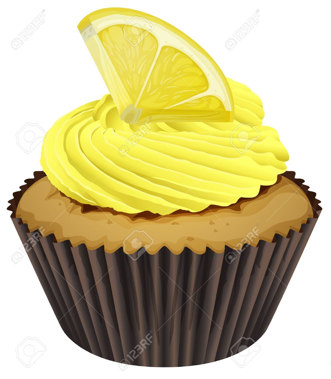 illustration of a cupcake on a white background Stock Vector - 16188261