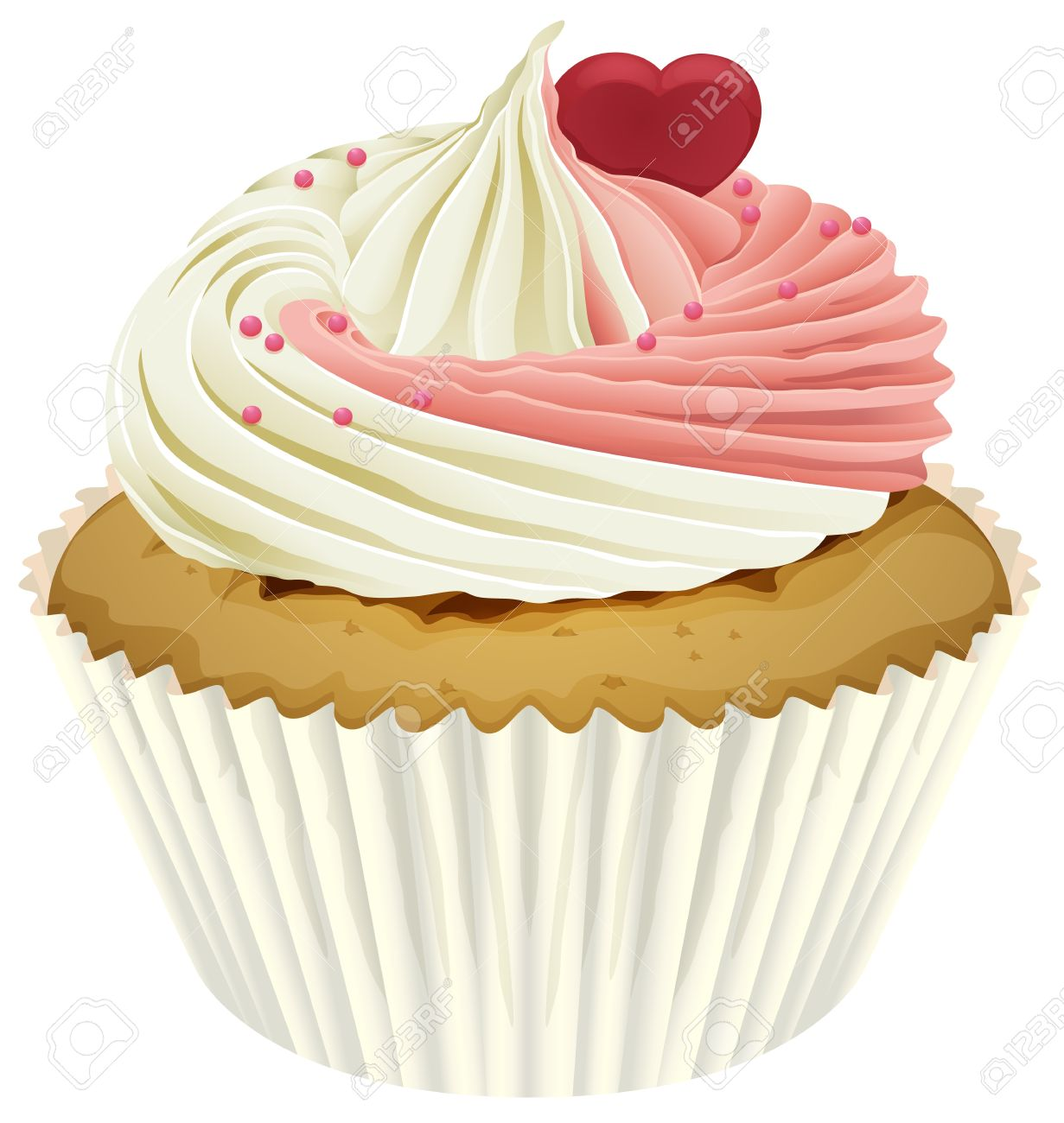 illustration of a cupcake on a white background Stock Vector - 16188258