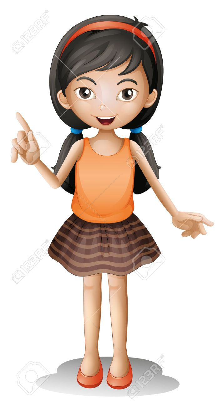 Illustration Of A Girl On A White Background Royalty Free Cliparts ...