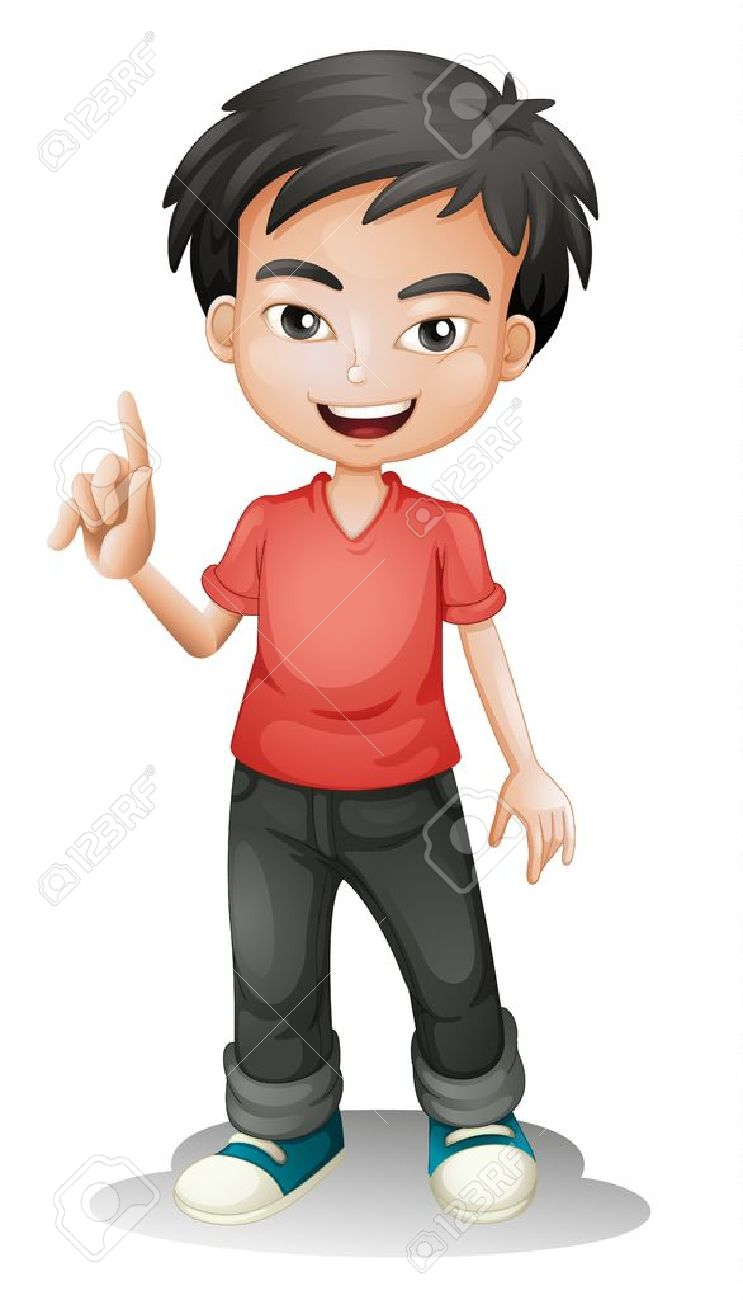 illustration of a boy on a white background royalty free cliparts