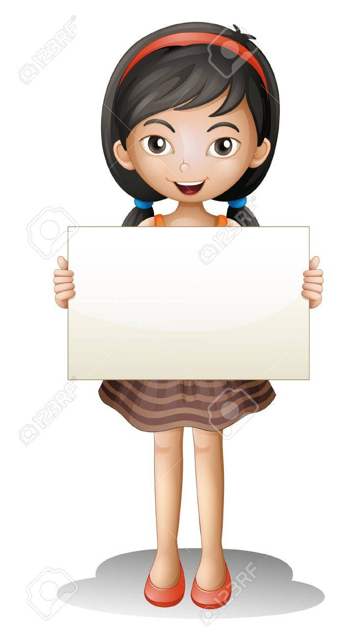 illustration of a girl on a white background Stock Vector - 16188259