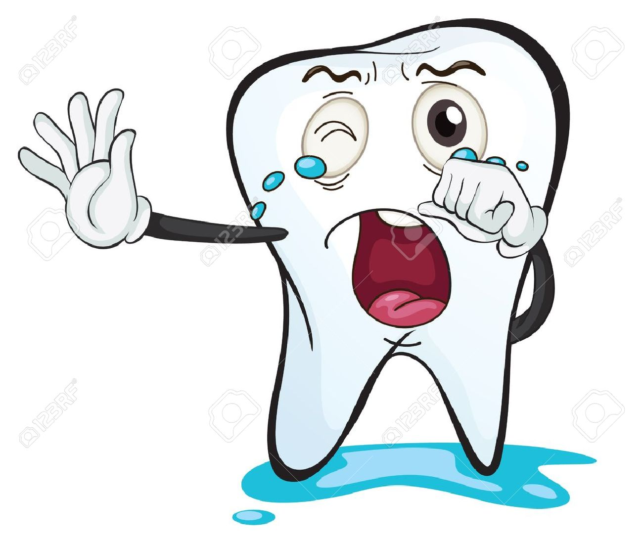 illustration of a tooth on a white background Stock Vector - 16188210