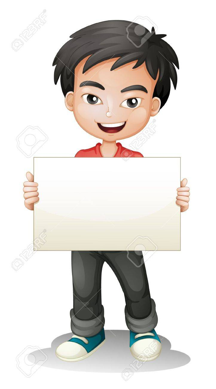 illustration of a boy on a white background - 16237176