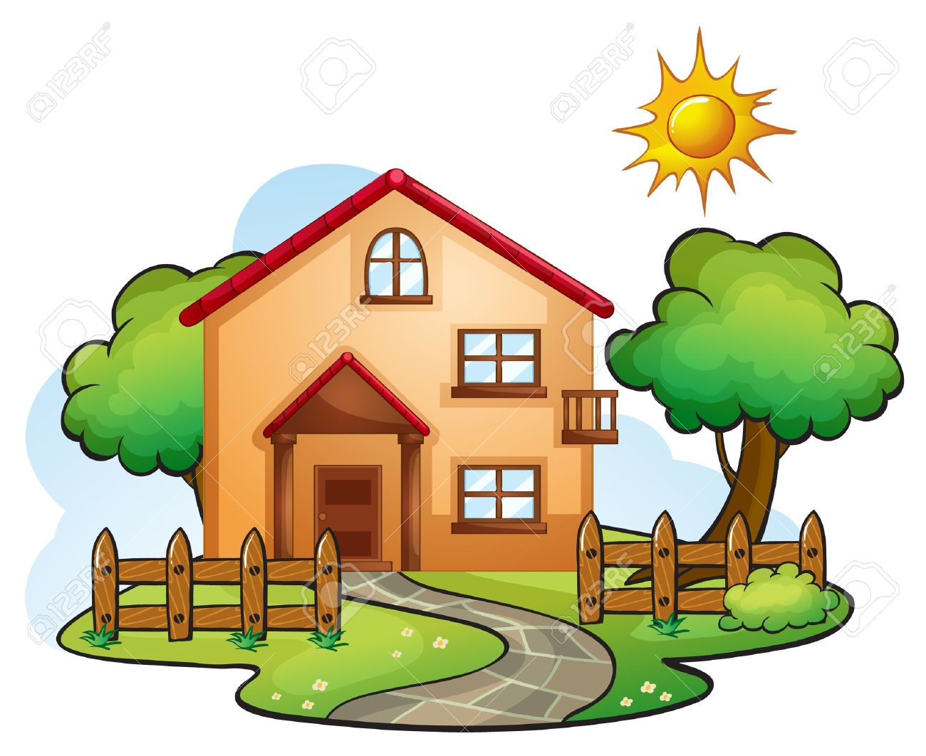 Living Room Images Of A House house drawing stock photos images 95091 royalty free illustration of a in beautiful nature illustration