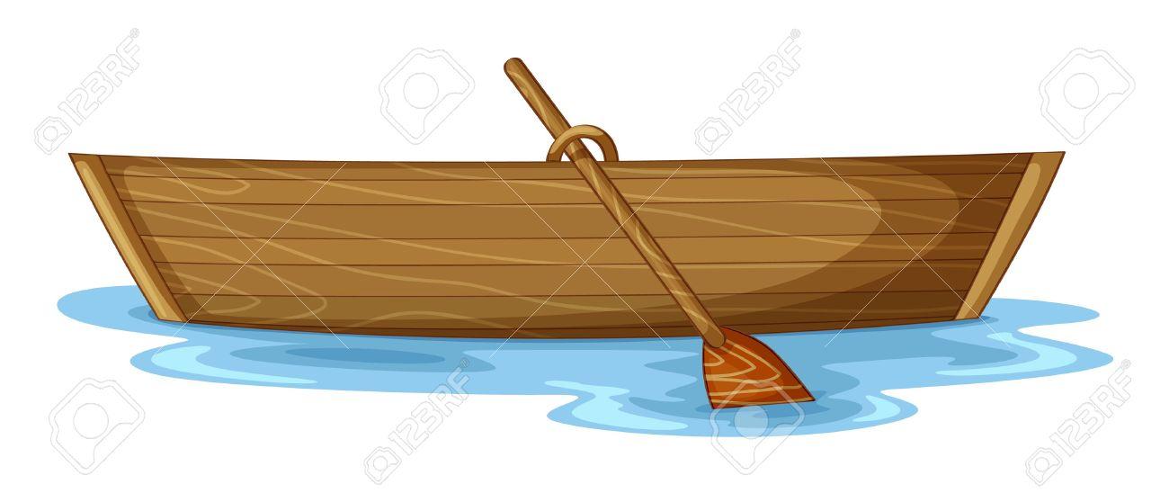 рисунок лодки в цвете