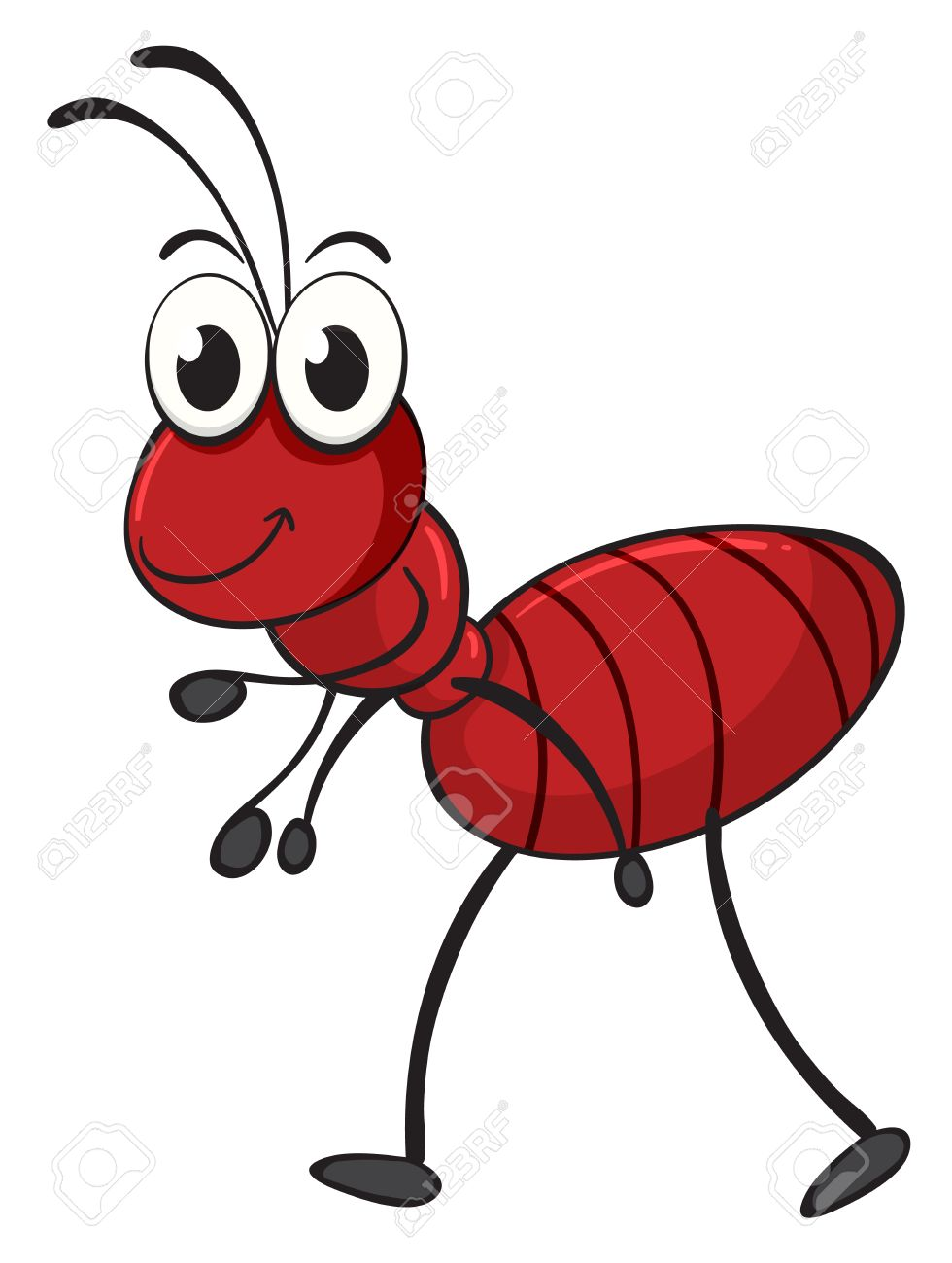 illustration of an ant on a white background royalty free cliparts