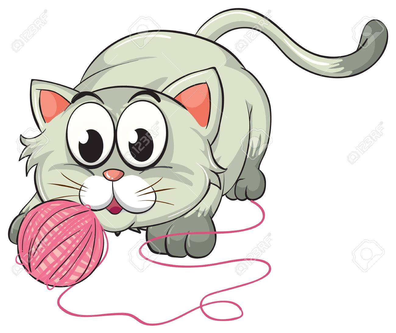 illustration of a cat on a white background Stock Vector - 16633790