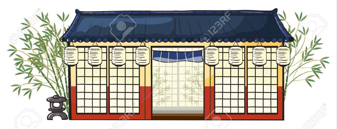 illustration of an asian house on a white background Stock Vector - 16734160