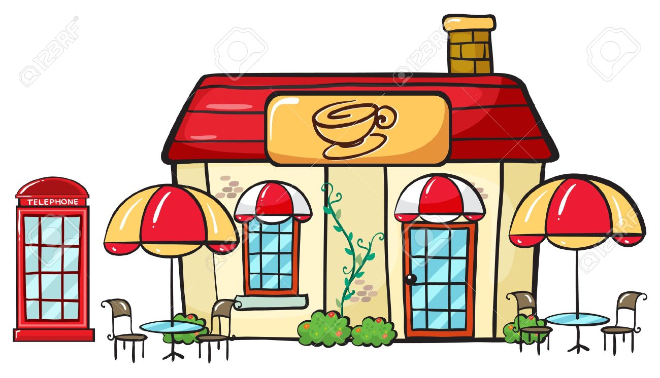 illustration of a coffee shop on a white background Stock Vector - 16733897
