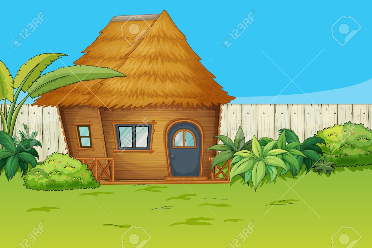 Beautiful garden cartoon - Illustration Of A House In A Beautiful Nature Stock Vector 17024818