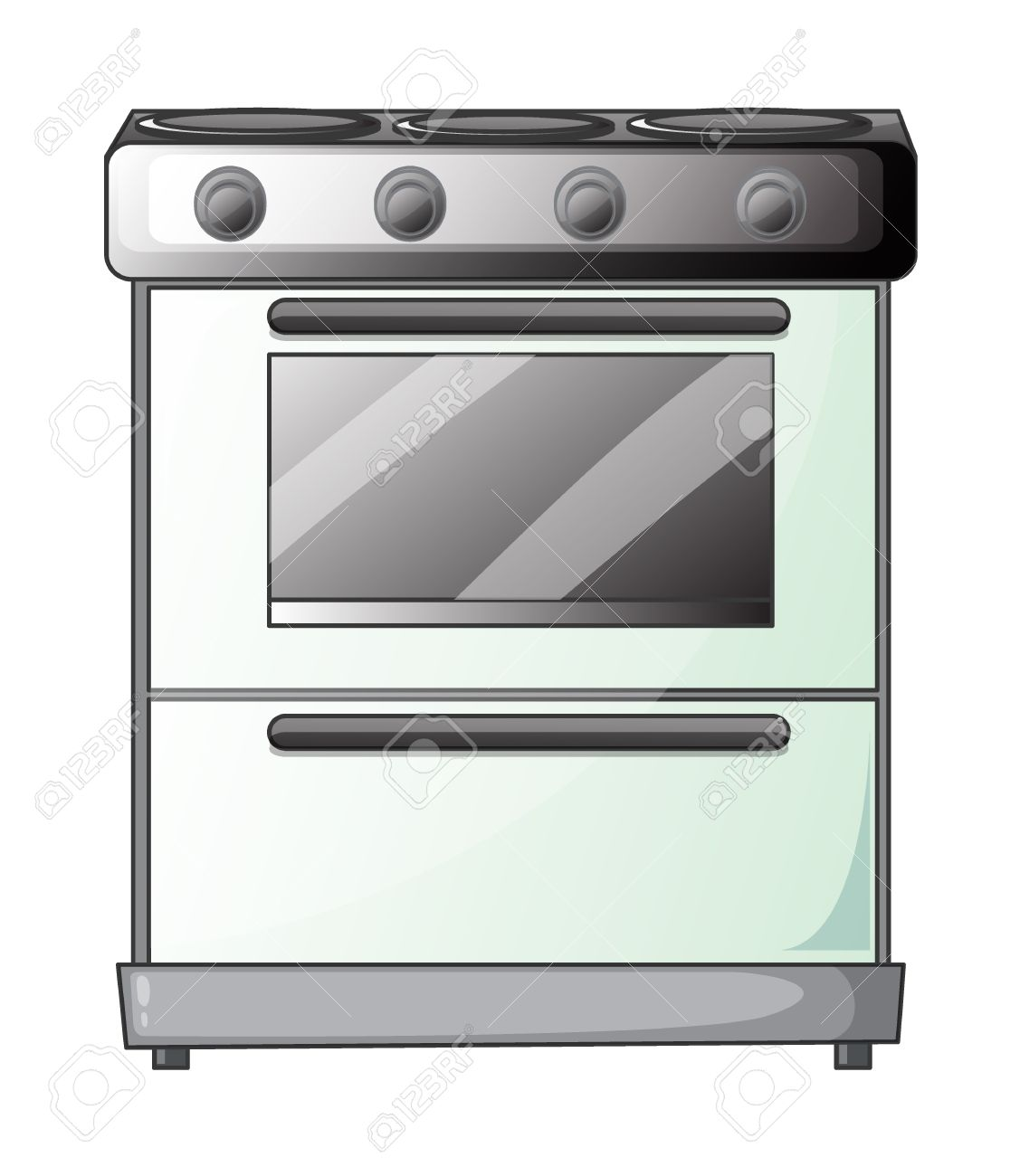 Oven Gas Stove Illustration Of A Gas Stove On A White Background Royalty Free