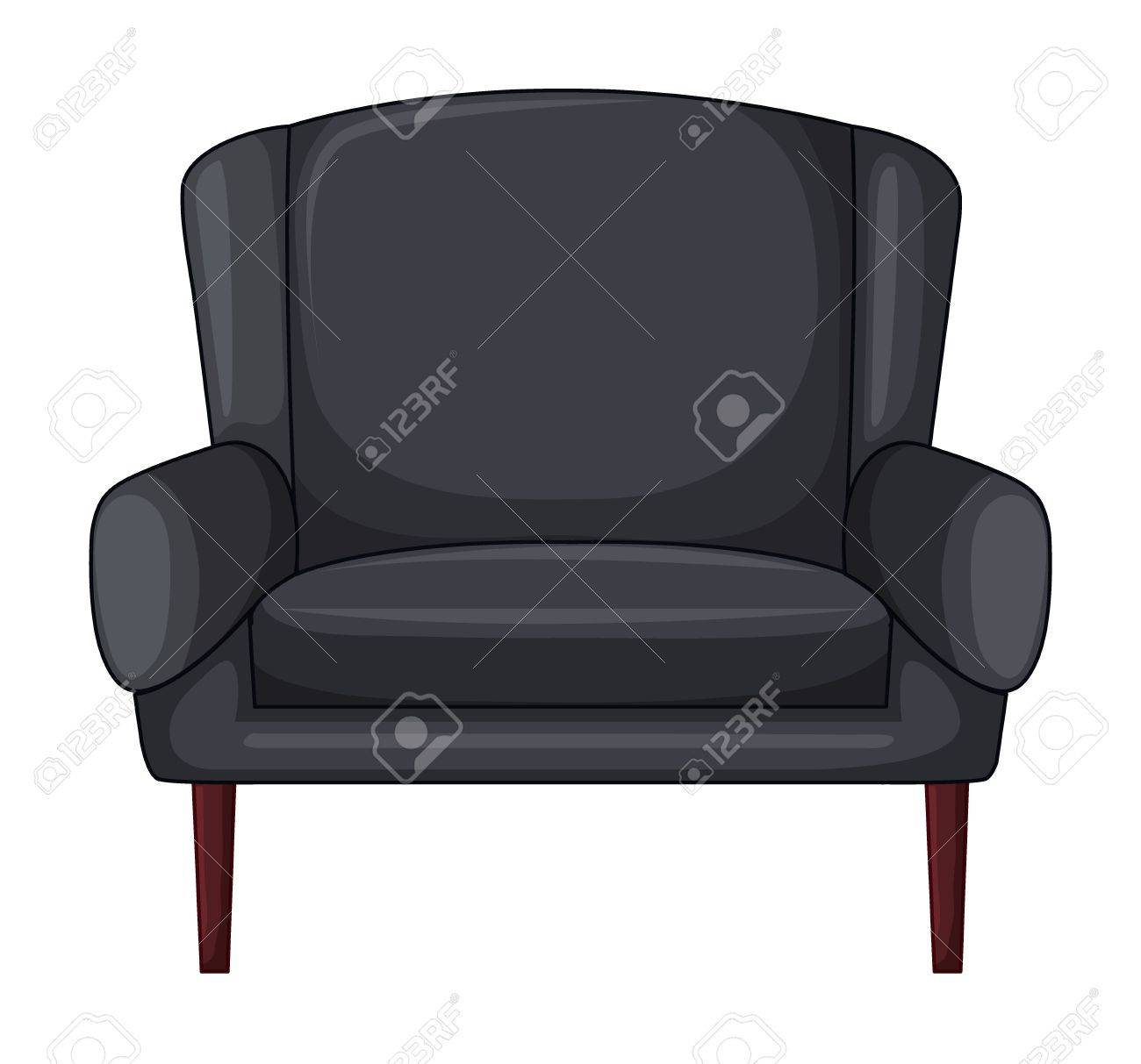 Illustration of an armchair on a white background Stock Vector - 17031026