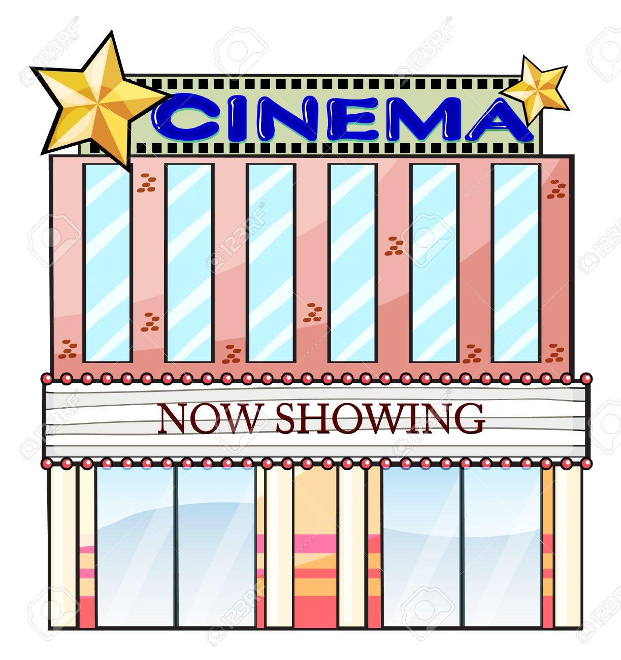 Ilustraci N De Un Edificio De Sala De Cine En Un Fondo Blanco Fotos
