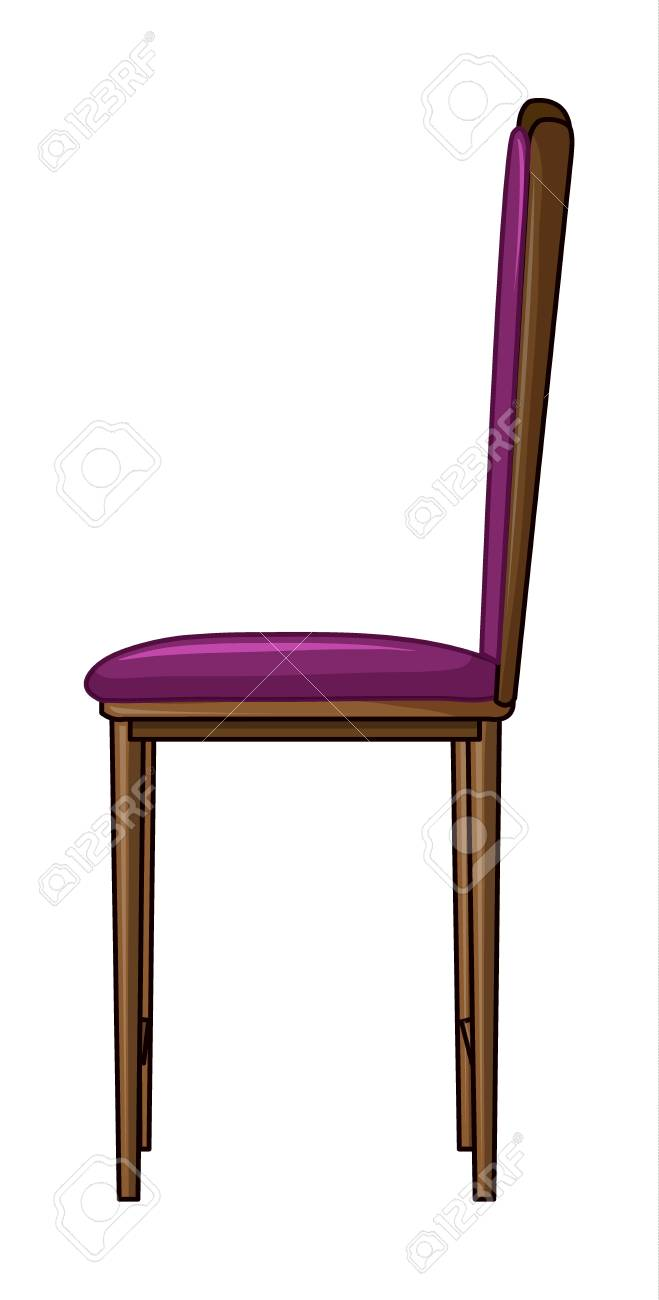 Illustration of a cushion chair on a white background Stock Vector - 17082475
