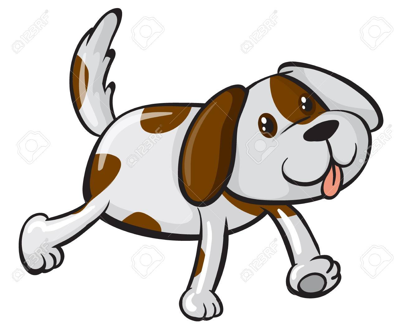 Illustration of a smiling dog on a white background Stock Vector - 17100336