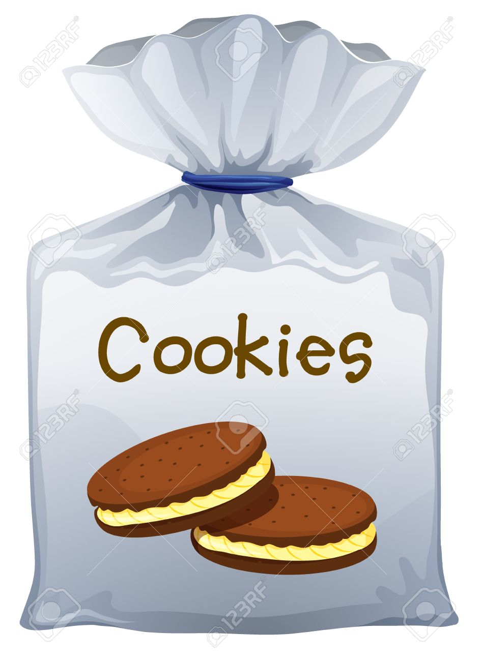 Illustration of a pouch bag of cookies on a white background Stock Vector - 17100516