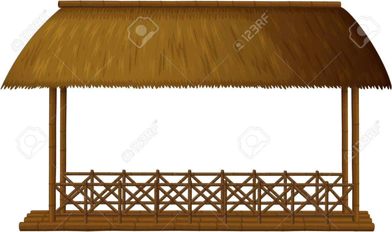 Illustration of a wooden shande on white background Stock Vector - 17100535