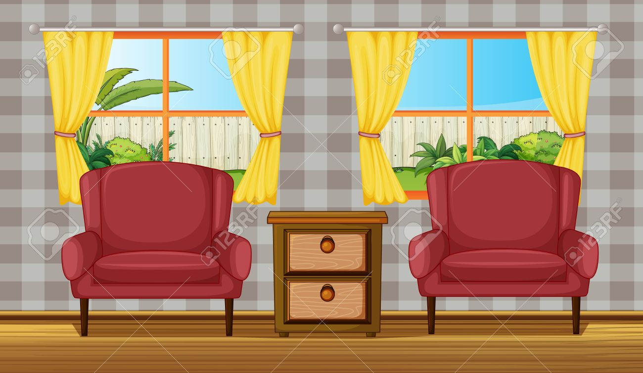 illustration of a colorful living room stock vector 17339118 - Colorful Living Room