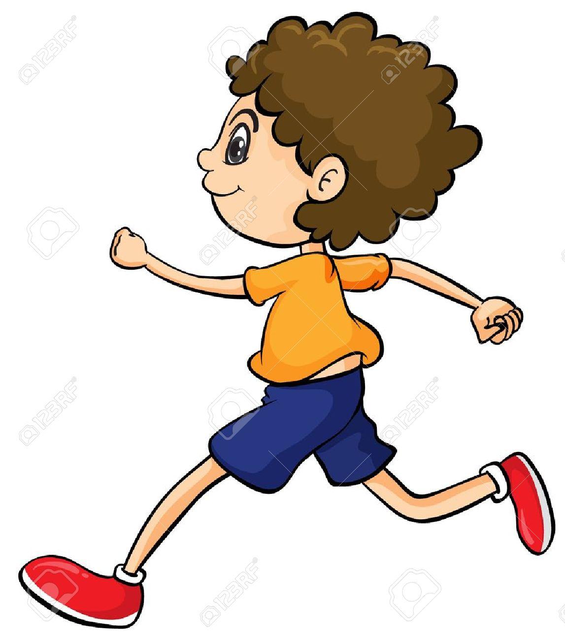 date de sortie a3179 e6469 Illustration d'un garçon de courir sur un fond blanc