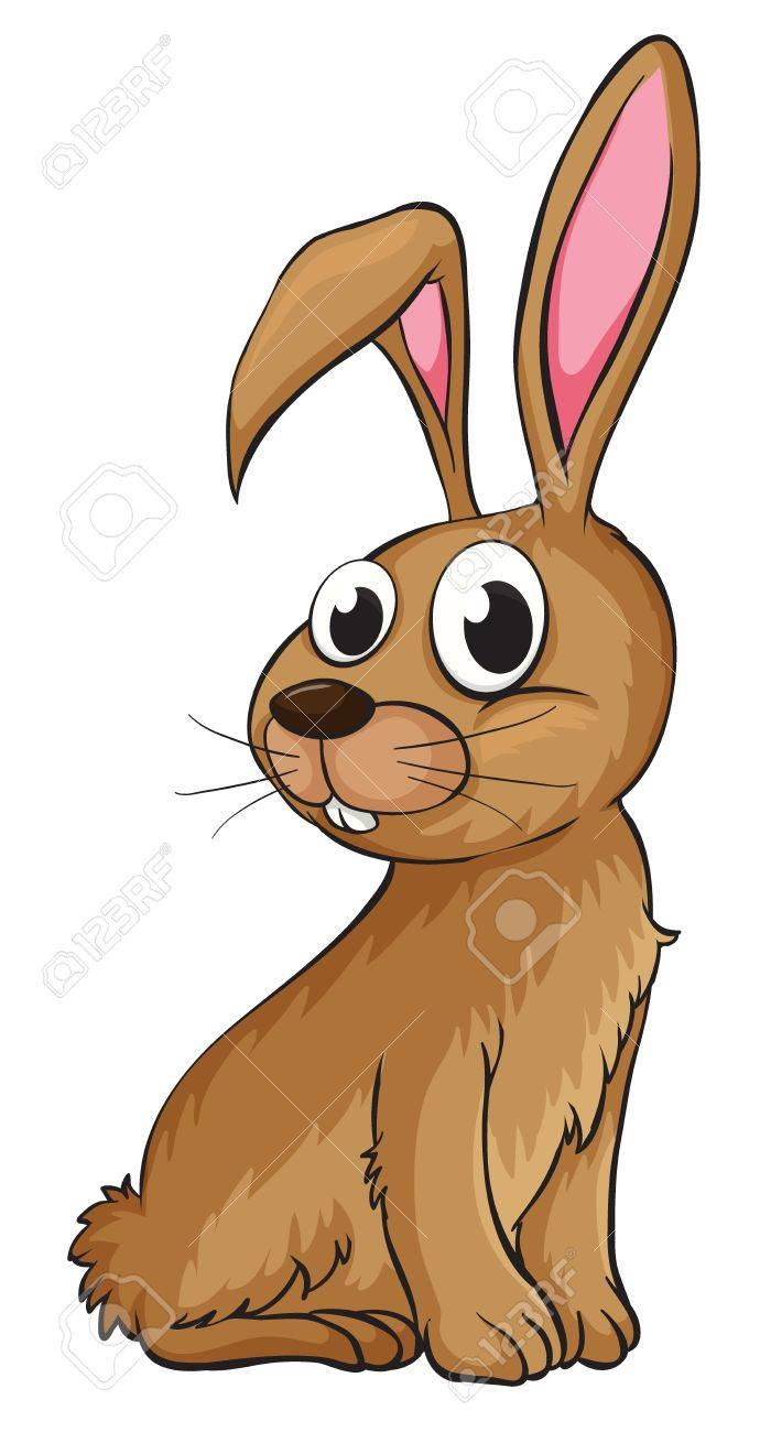 Illustration of a smiling rabbit on a white background Stock Vector - 17358031