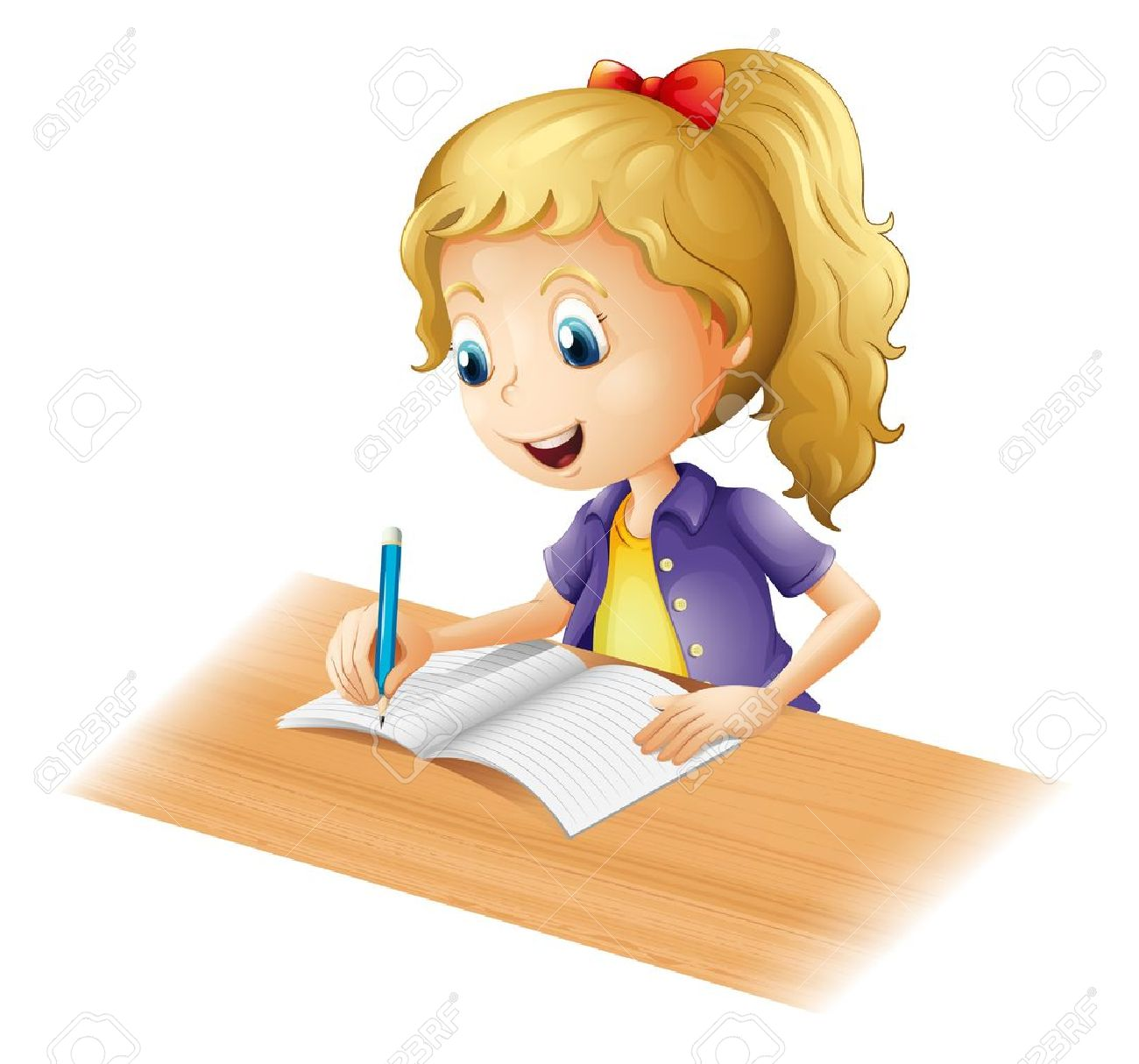 homework assignment cliparts stock vector and royalty homework assignment illustration of a young girl writing on a white background