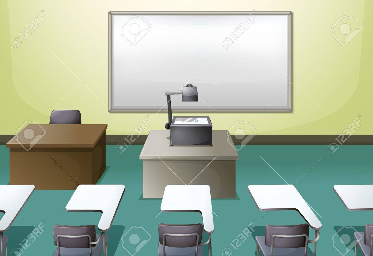 Illustration of a  college classroom Stock Vector - 17410911