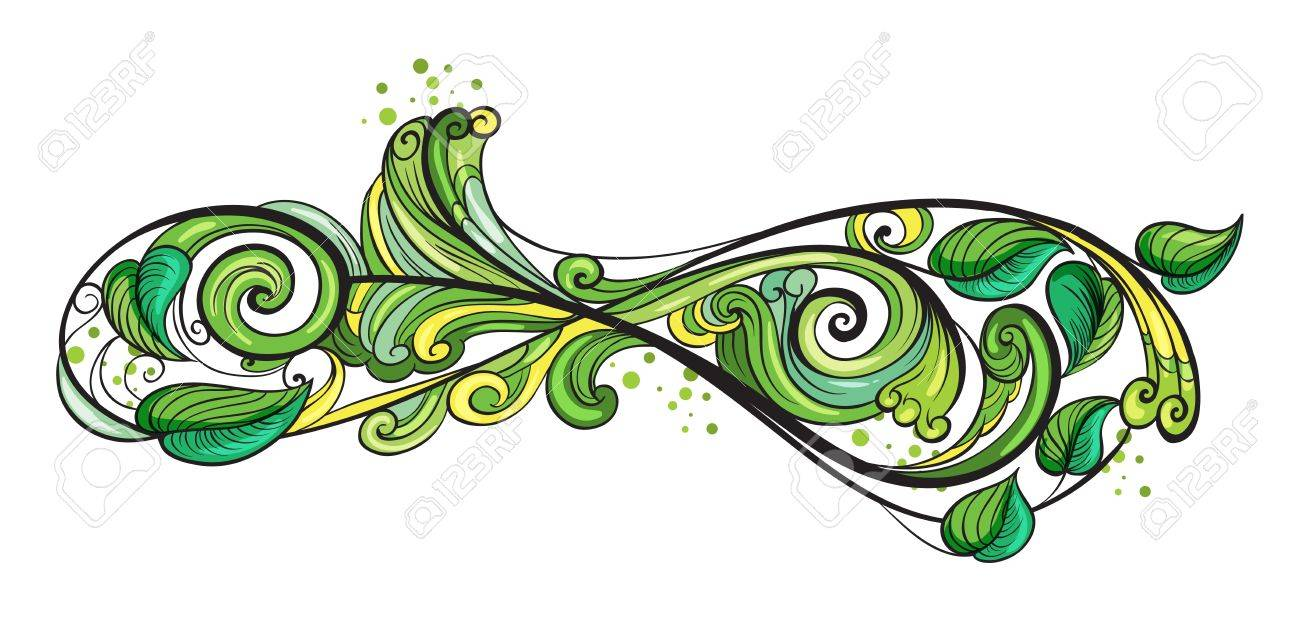 Illustration of a creative green border on a white background Stock Vector - 17410045