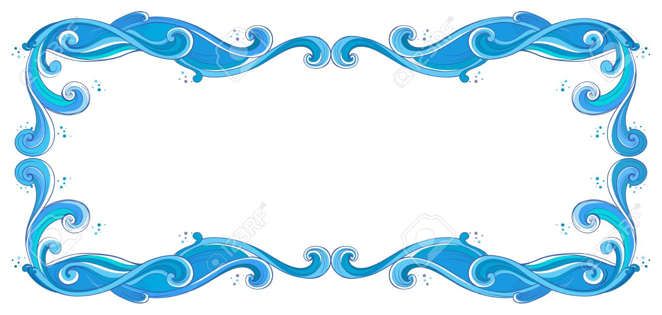 Illustration of a blue unique border on a white background Stock Vector - 17442959