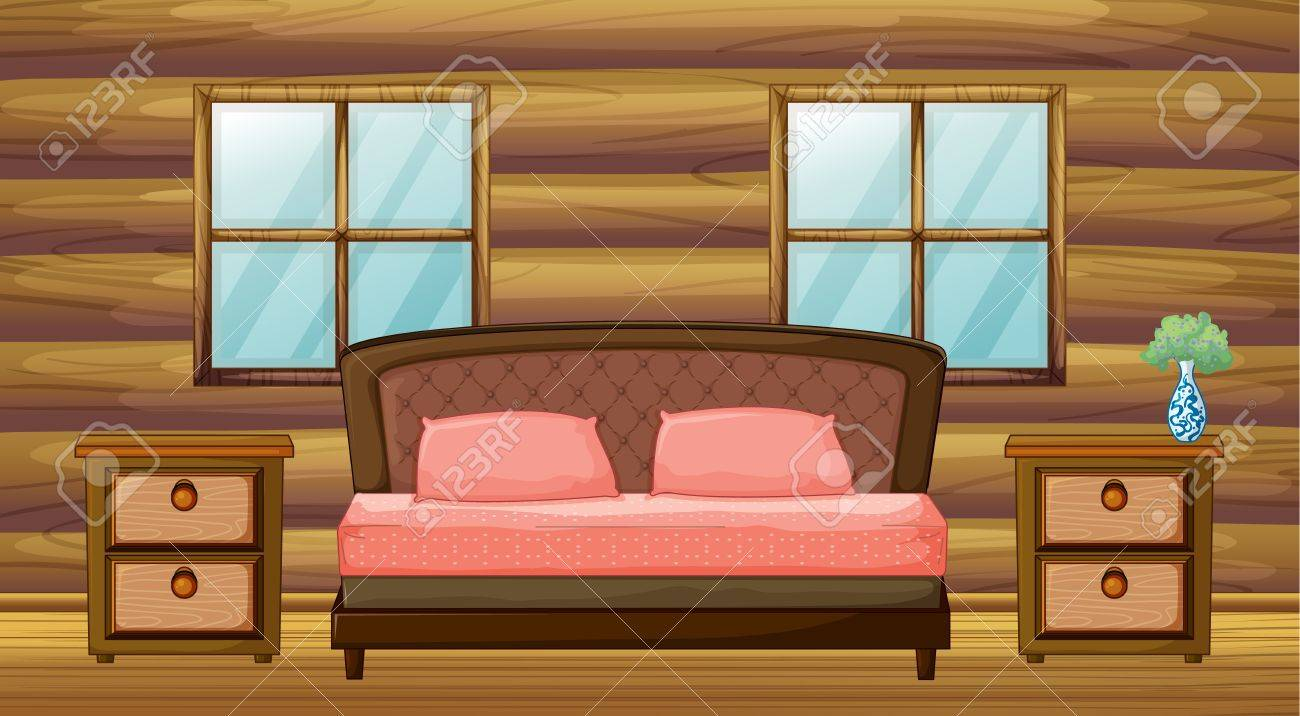 Organized Bedroom Illustration Of An Organized Bedroom Royalty Free Cliparts