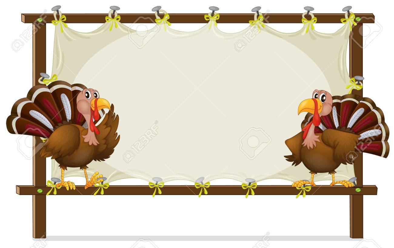 Illustration of the two turkeys on a white background Stock Vector - 17890231