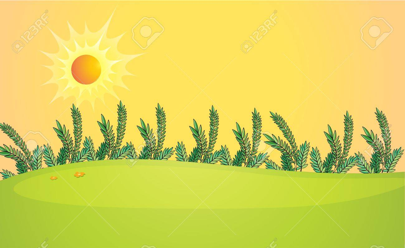 Illustration of a very bright sun Stock Vector - 17889375