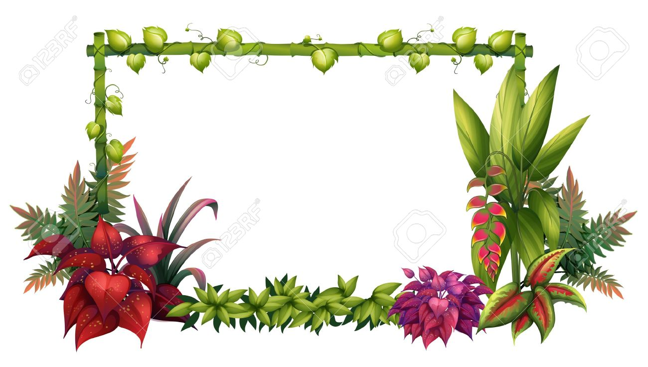 Illustration Of A Garden On White Background Stock Vector