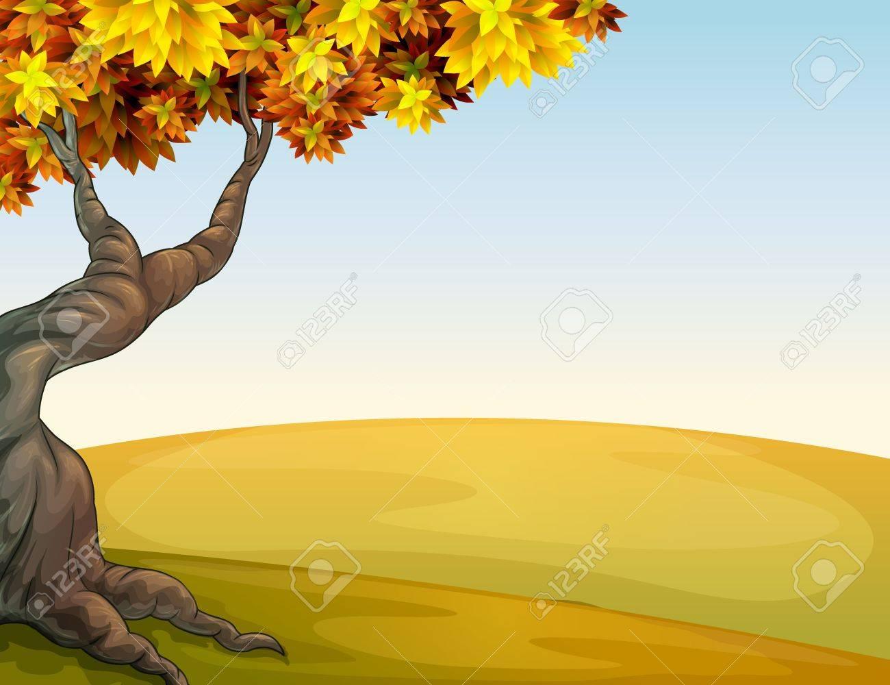 Illustration of an autumn scenery Stock Vector - 17895617