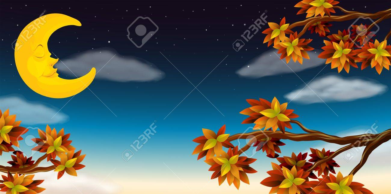 Illustration of the half moon Stock Vector - 17896312