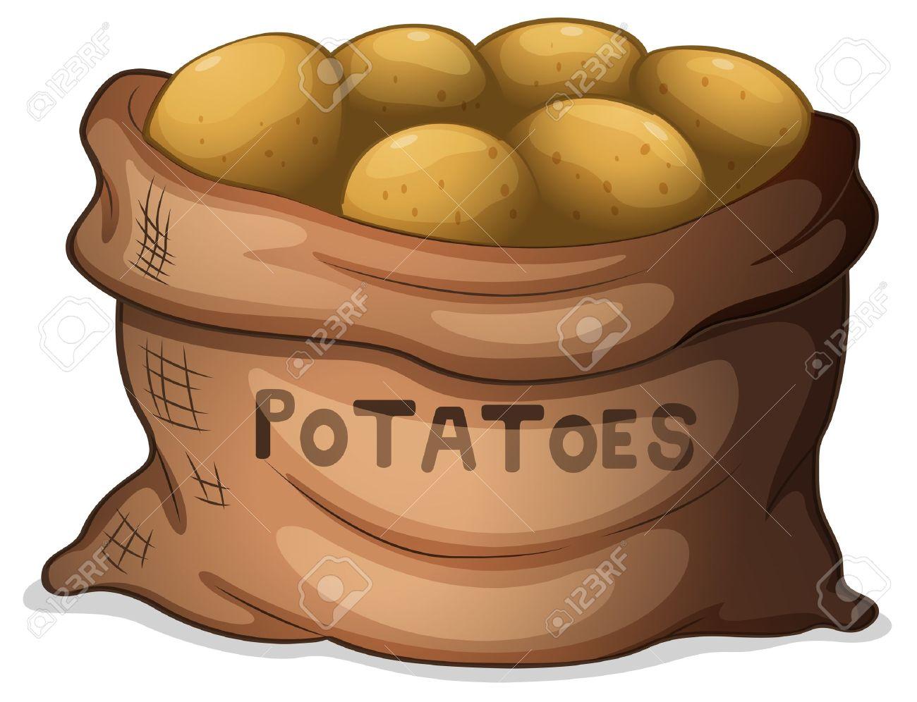 Мешки с картошкой рисунок