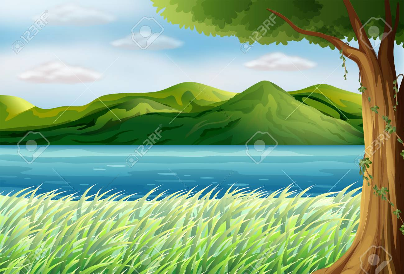 Illustration of the blue sea Stock Vector - 17897890