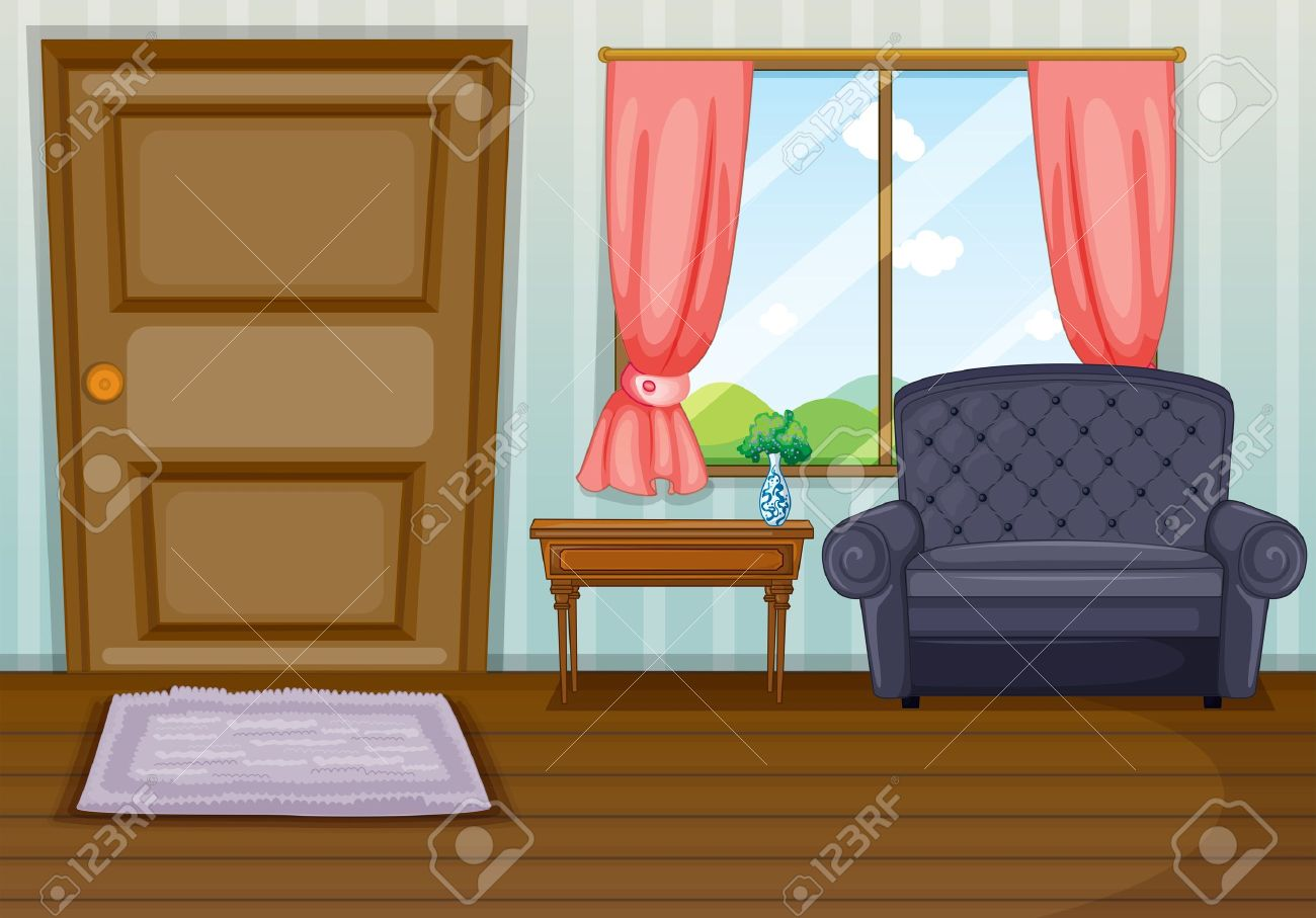 Illustration Of A Clean Living Room Stock Vector