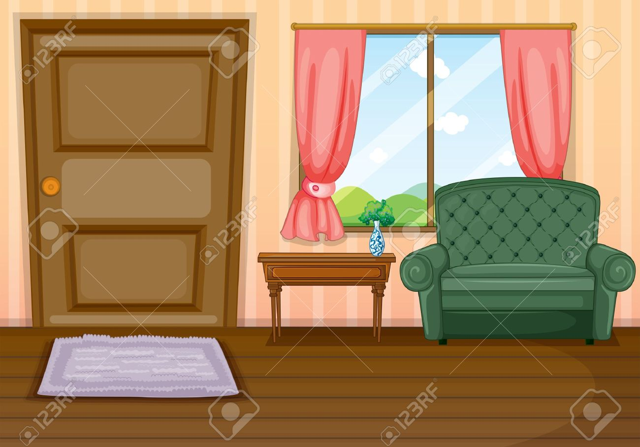 Illustration of furnitures inside the house Stock Vector - 17878873