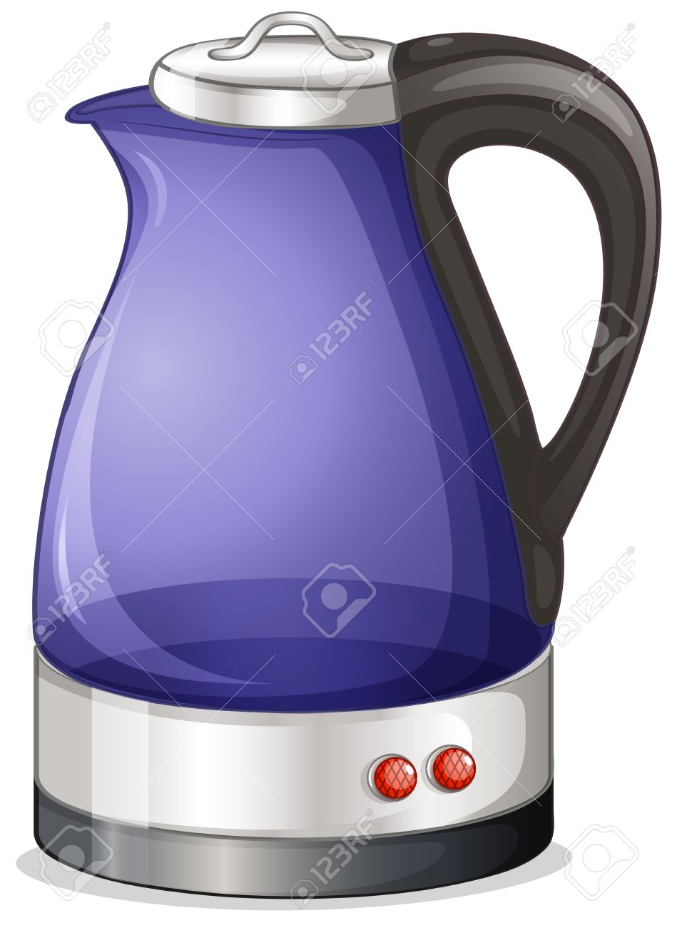 Illustration of an electric kettle on a white background Stock Vector - 18004998