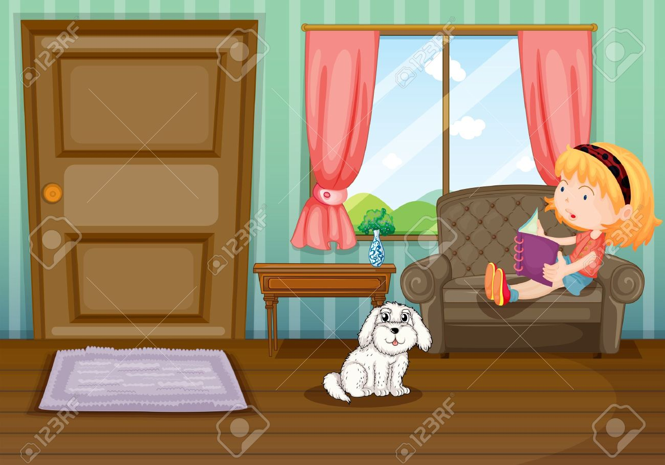 Drawing Room Clipart Drawing Room Illustration of