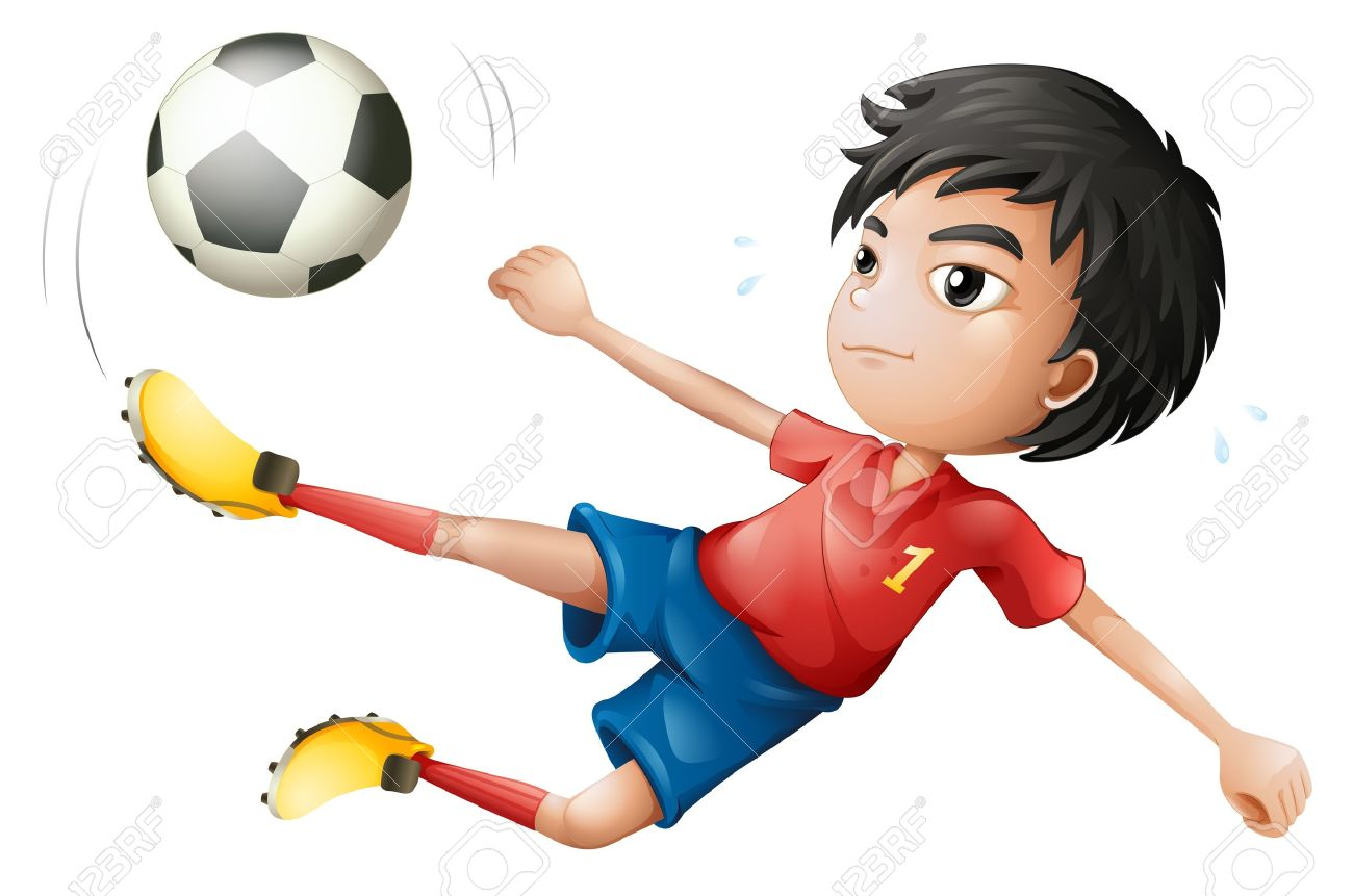 Illustration of a soccer player on a white background Stock Vector - 18052934
