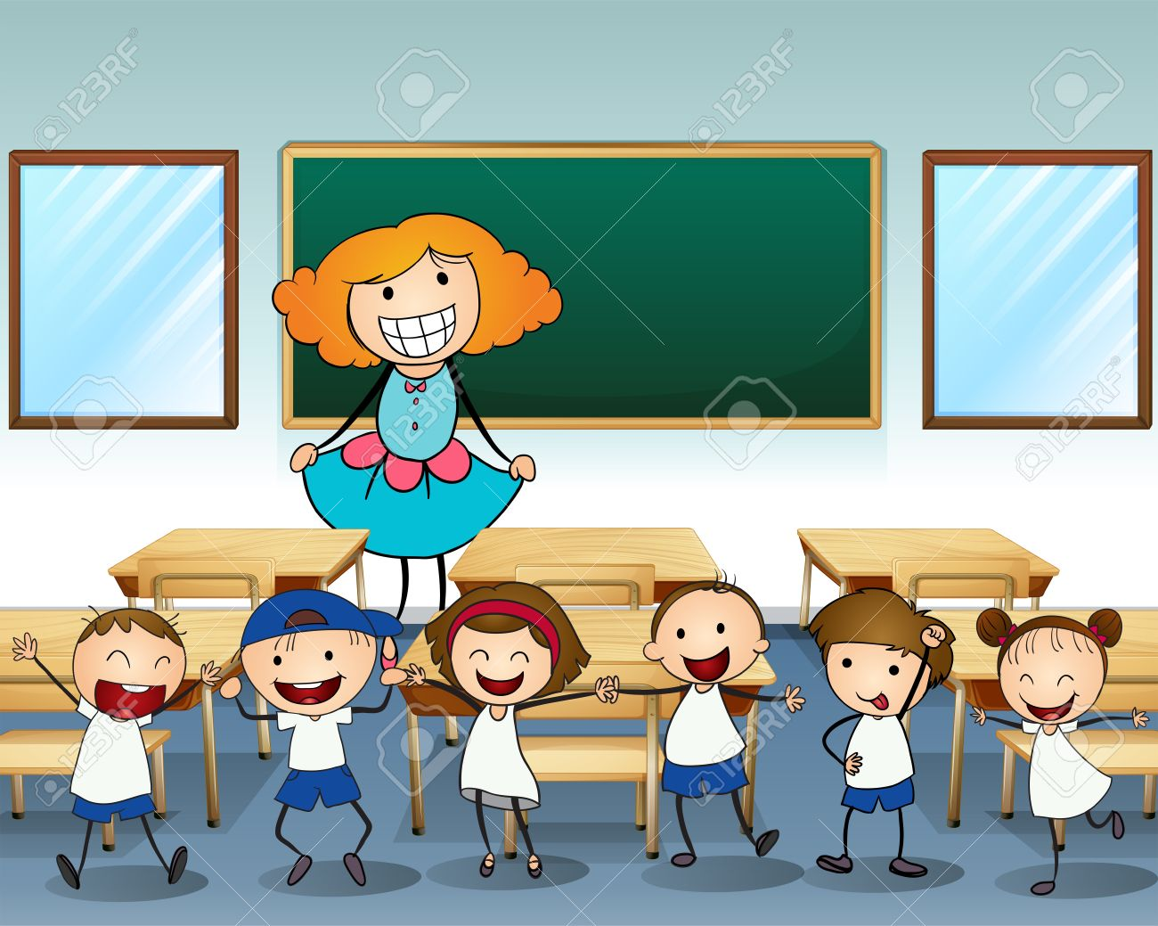 Image result for students laughing in class cartoon