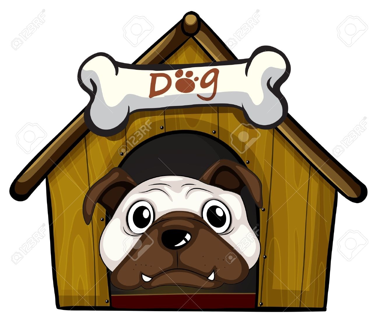 Illustration of a head of a dog Stock Vector - 18210085