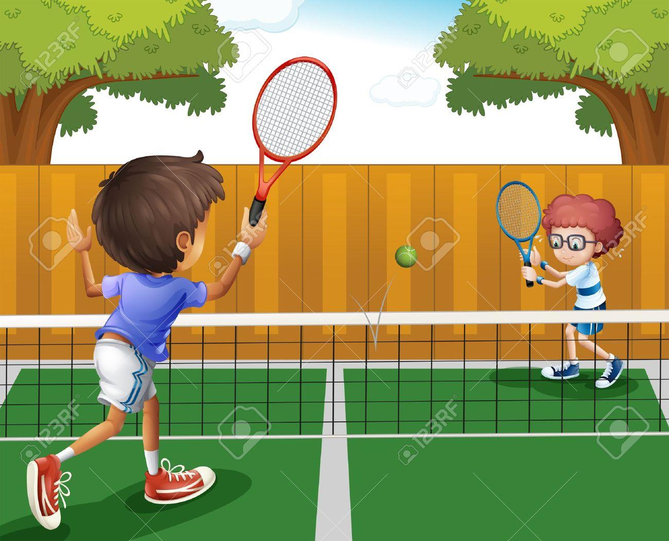 Lawn Tennis Illustration