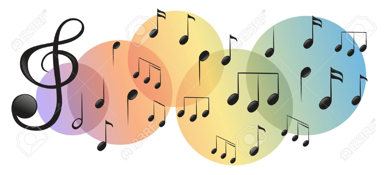 Illustration of the different kinds of musical notes on a white background Stock Vector - 18265807