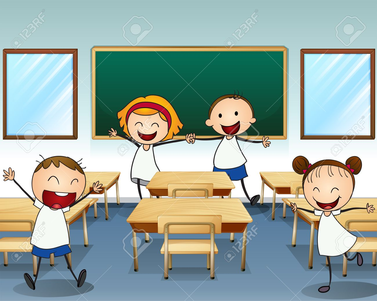 Table and chairs clipart clipart kid -  Classroom Table And Chairs Clipart