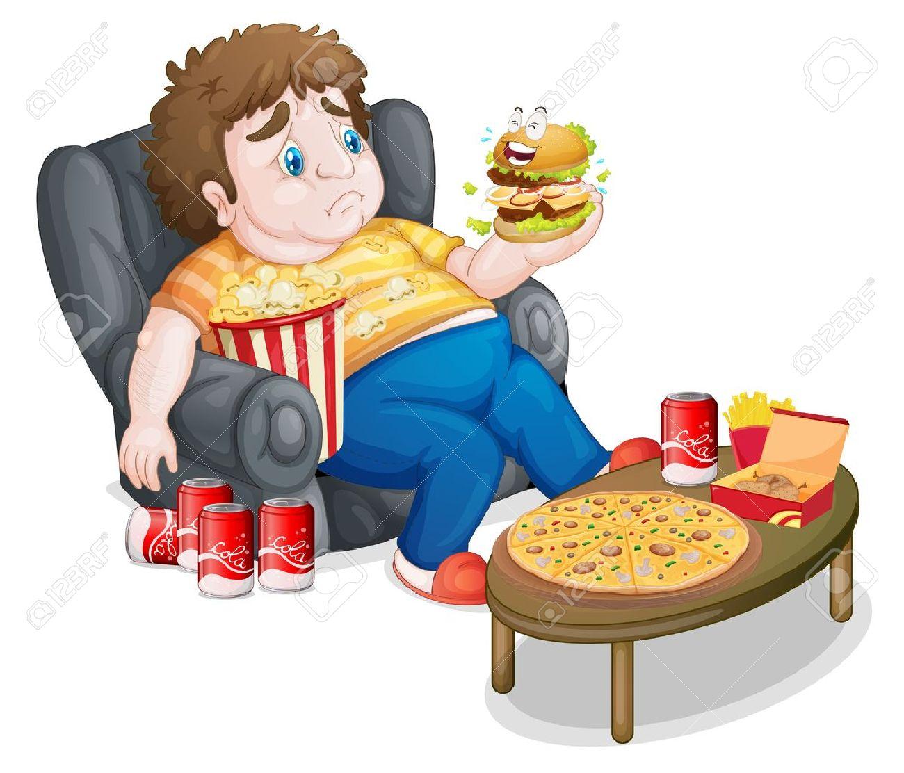 ¿que te cuentas? - Página 25 18459514-Ilustraci-n-de-un-muchacho-gordo-comiendo-en-un-fondo-blanco-Foto-de-archivo