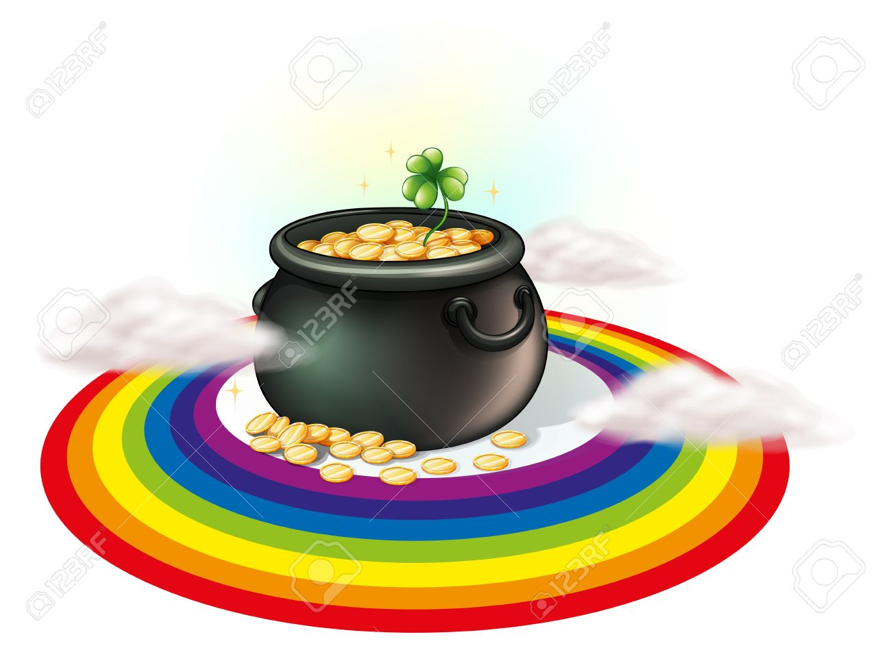 6,641 Pot Of Gold Stock Illustrations, Cliparts And Royalty Free ...