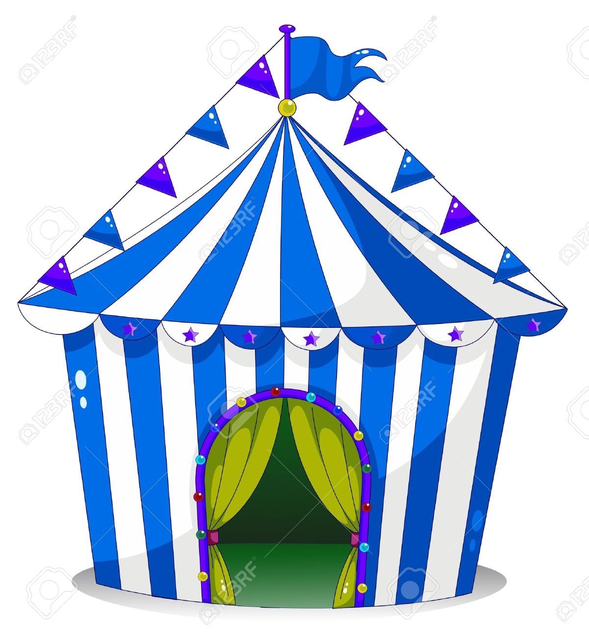 Illustration of a circus tent on a white background Stock Vector - 18607623